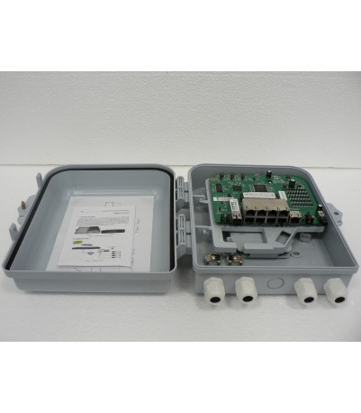 POE ONU 8FE + Reverse POE + 1 SC/PC PON port, plastic box, model WK-2808P