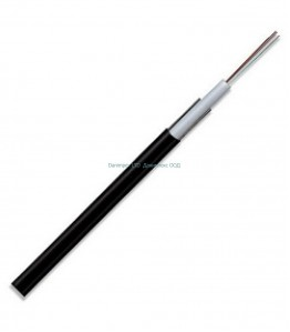 Оптичен кабел 12 влакна, G652D, SM, 1310/1550, две метални проволки 2x0,5 mm., OD: 5,00 mm., 220N,  2km/drum, GYXTF - 12, неармиран.