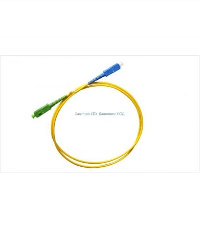 Patch Cord SC/PC to SC/АPC,  3.00mm,G657A Simplex, SM, 5 метра