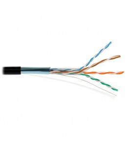 FTP-CAT Cat5E Copper PE 4 pairs 24 AWG Solid COPPER 4Px(0.51mm/1.01mm)+AL+GROUND WIRE (0.5MM CCS)/ 6.00mm   305м