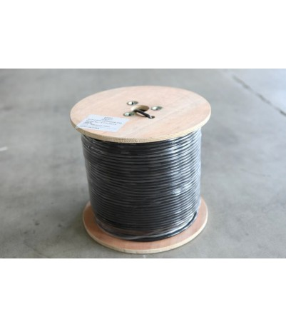 FTP-CAT Cat5E Cu/Мessenger + DC power 2x0,50mm. Cu 4 pairs 24 AWG, 305 m.