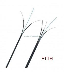 Оптичен кабел FTTH- 2 fiber метал
