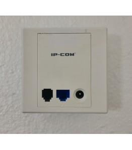 W10AP, Wall Jack AP, 2.4G, 150 Mbps., 2 LAN Ports 100Mbps., 1DC Port for External PSU