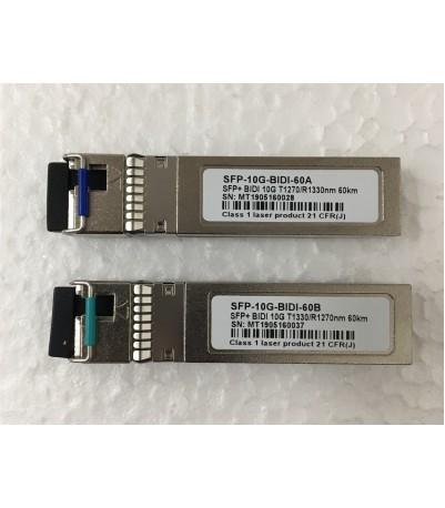 SFP+/10G-BIDI T1330/R1270nm 60kmA/B  LC