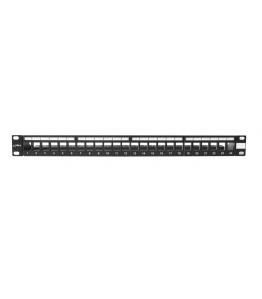 Пач панел BKT 19'' BKT , modular for 24xRJ45, shielded, 1U