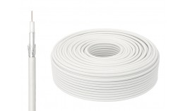 Коаксиален кабел RG6/64, WHITE ,1X0.90mm CCS +Foam PE :4.57mm +AL wire
