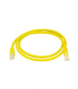 Пач Корд UTP-CAT6, PVC, жълт, 1м