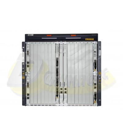 ZTE шаси OLT C300 + 2DC модула (PRWH) + 2 uplink cardsXUVQ (4x10) + 2 managements (SCTM 4*10G)